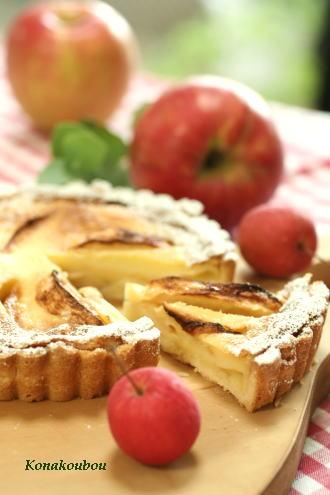 10月のお菓子・田舎風りんごのタルト_a0392423_09150411.jpg