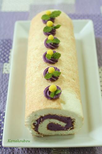 10月のお菓子・紫芋のロールケーキ_a0392423_09150570.jpg