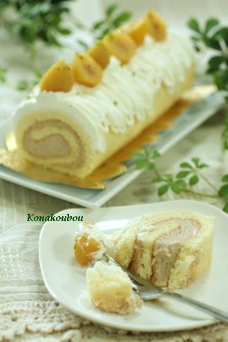 10月のお菓子・マロンロール_a0392423_09150626.jpg
