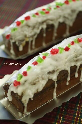 クリスマスのお菓子・雪をかぶったチョコケーキ_a0392423_09152552.jpg
