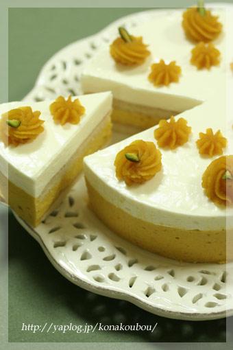10月のお菓子・かぼちゃとチーズのムース_a0392423_09164159.jpg