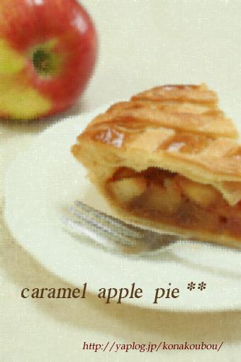 10月のお菓子・カラメルアップルパイ_a0392423_09164226.jpg