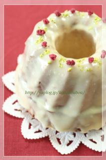 2月のお菓子・ホワイトチョコのクグロフ_a0392423_09170352.jpg
