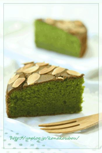 7月のお菓子・抹茶のバターケーキ_a0392423_09172851.png