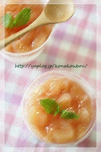 8月のお菓子・桃とヨーグルトのデザート_a0392423_09173106.jpg