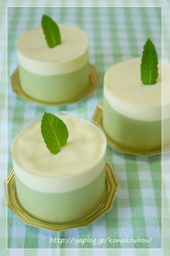 6月のお菓子・抹茶とホワイトチョコのムース_a0392423_09183223.jpg