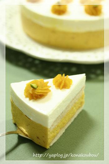 10月のお菓子・かぼちゃとチーズのムース_a0392423_10051659.jpg