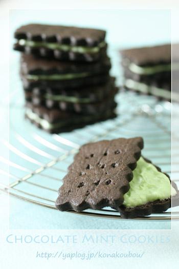 7月のお菓子・チョコミントクッキー_a0392423_10060529.jpg