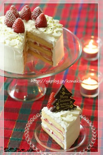 クリスマスのお菓子・苺のデコレーションケーキ_a0392423_10063669.jpg