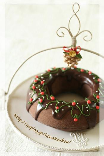 クリスマスのお菓子・チョコレートリース_a0392423_10063969.jpg