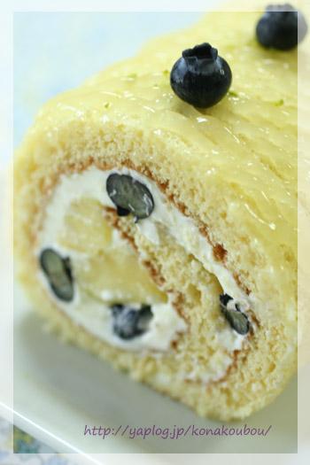 5月のお菓子・パインのロールケーキ_a0392423_10070942.jpg