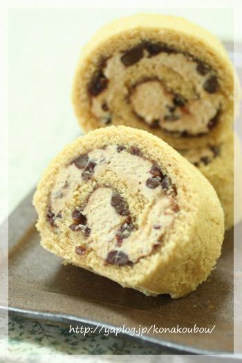 9月のお菓子・きなこのロールケーキ_a0392423_10074602.jpg