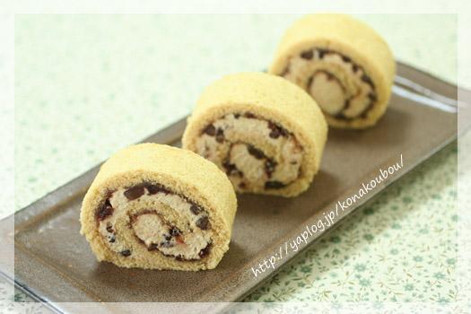 9月のお菓子・きなこのロールケーキ_a0392423_10074690.jpg