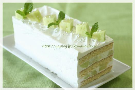 6月のお菓子・メロンのショートケーキ_a0392423_23165627.jpg
