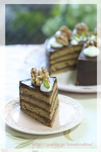 11月のお菓子・胡桃とチョコのケーキ_a0392423_23174739.jpg