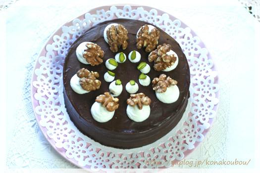 11月のお菓子・胡桃とチョコのケーキ_a0392423_23174770.jpg