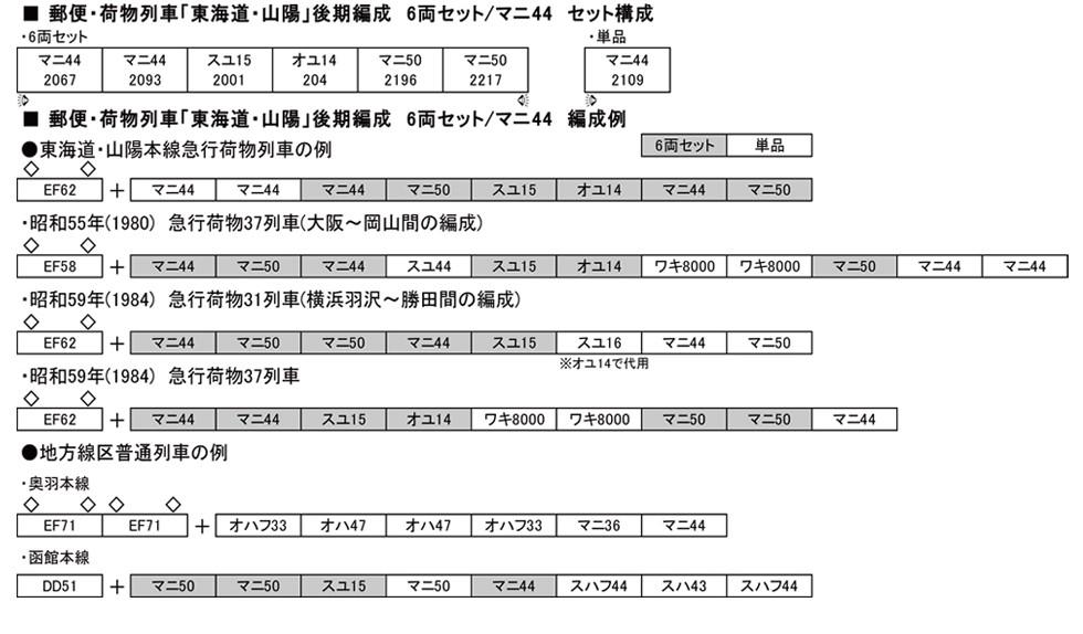 KATOのNゲージ東海道山陽荷物車後期セットとオユ14・スユ44の電気暖房の話_f0203926_1823377.jpg
