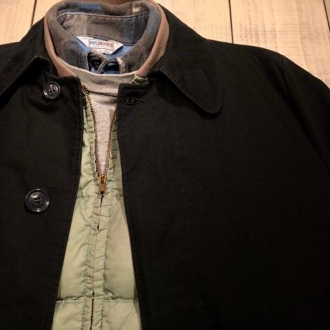 "1960-70s \"" UNKNOWN \"" - BLACK POPLIN - ボアライナー付 vintage SOUTIEN COLLAR COAT ._d0172088_22275496.jpg"