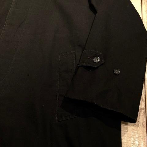 "1960-70s \"" UNKNOWN \"" - BLACK POPLIN - ボアライナー付 vintage SOUTIEN COLLAR COAT ._d0172088_22473128.jpg"