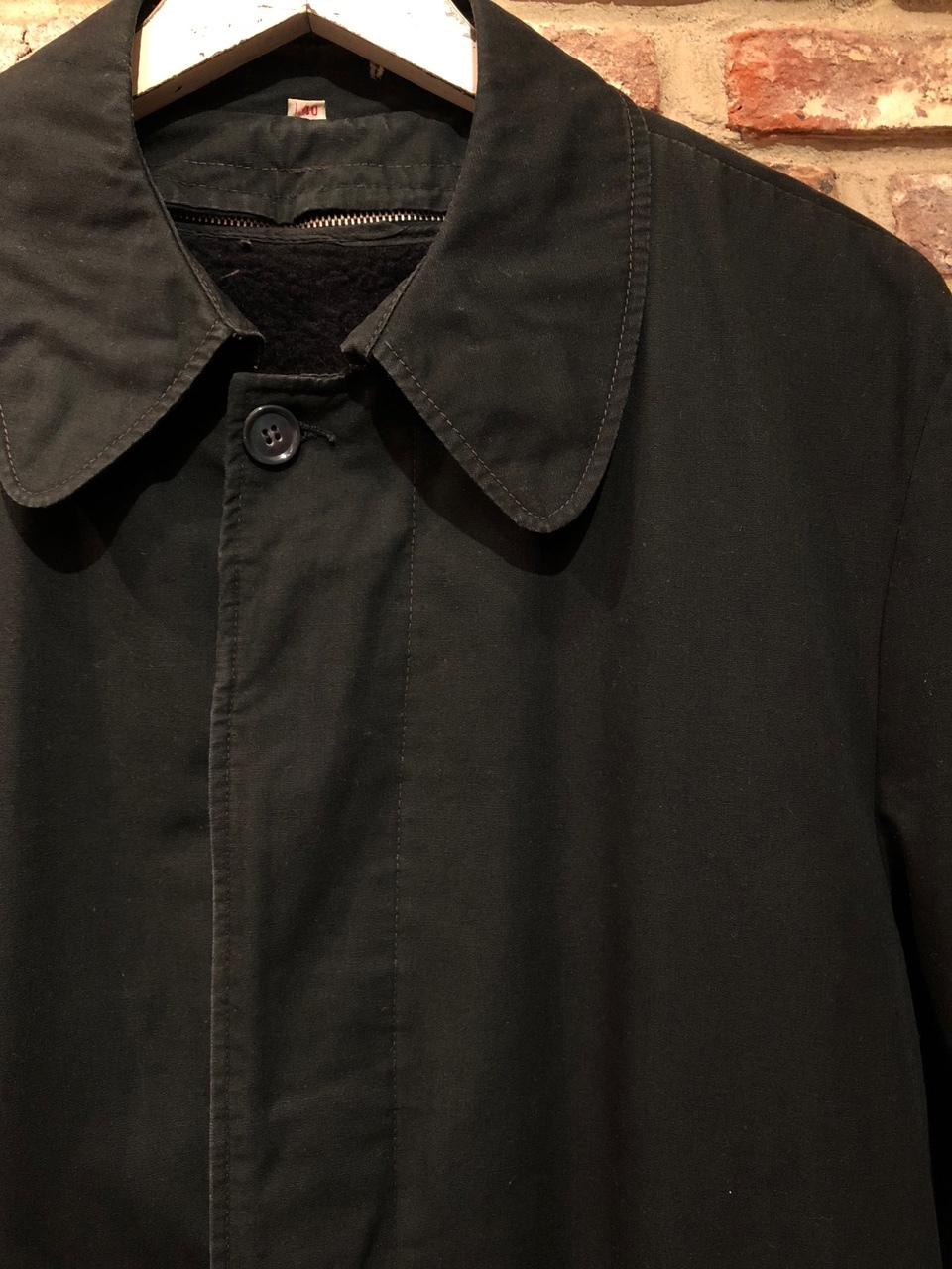 "1960-70s \"" UNKNOWN \"" - BLACK POPLIN - ボアライナー付 vintage SOUTIEN COLLAR COAT ._d0172088_22505800.jpg"