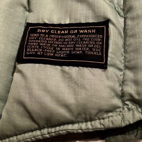 "1960-70s \"" UNKNOWN \"" - BLACK POPLIN - ボアライナー付 vintage SOUTIEN COLLAR COAT ._d0172088_23021753.jpg"