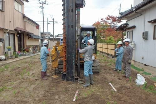新潟市江南区 地盤調査 地盤改良 鋼管杭_c0091593_13340313.jpg