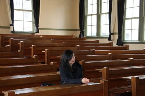 中澤 未美子 学術研究院 准教授が重文本館をご見学_c0075701_11205453.jpg
