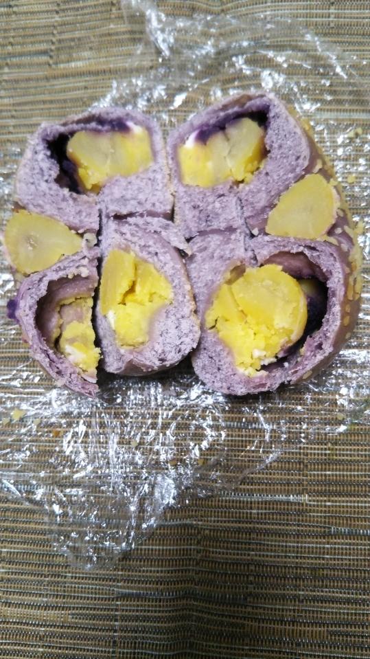 ラクダピクニック 紫芋スイートポテト&マロンクリームチーズ_f0076001_22402649.jpg