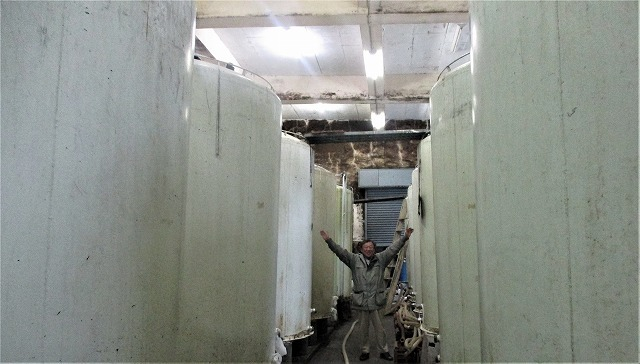武蔵野酒造工場見学/スノボ政宗 期日限定朝一番搾り蔵出し酒_b0163804_17160201.jpg