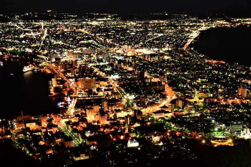 新幹線で北海道へ(2)函館の夜景_a0148206_20002423.jpg