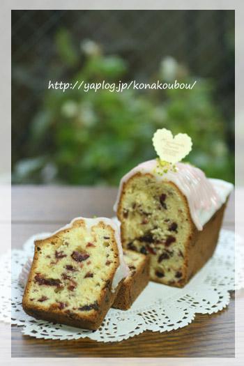 3月のお菓子・クランベリーのミニケーキ_a0392423_00252161.jpg