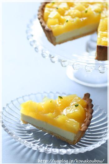 4月のお菓子・パインとチーズのタルト_a0392423_00263538.jpg