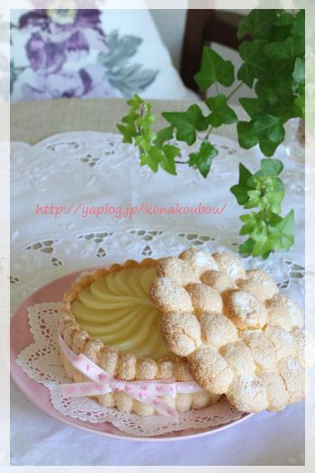 5月のお菓子・紅茶と洋梨のシャルロット_a0392423_00264244.jpg