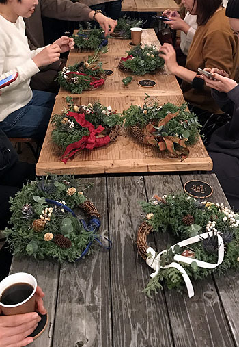クリスマスリースのWS@Jazzrize Store_a0074650_12383184.jpg