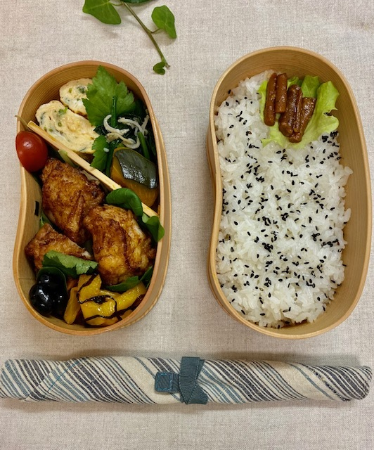 lunch box ×5   会津旅のお土産を詰めて_a0165160_15575088.jpg