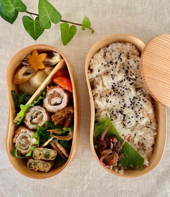 lunch box ×5   会津旅のお土産を詰めて_a0165160_15591045.jpg