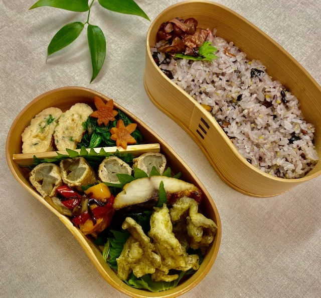 lunch box ×5   会津旅のお土産を詰めて_a0165160_16004566.jpg