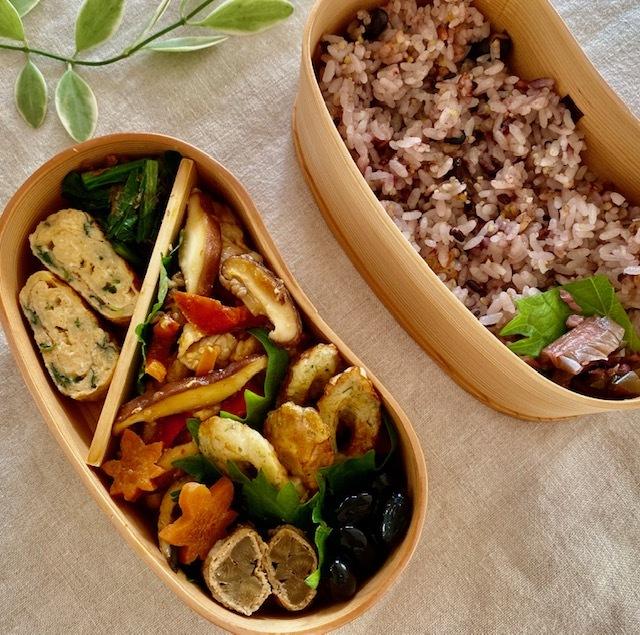 lunch box ×5   会津旅のお土産を詰めて_a0165160_16145229.jpg