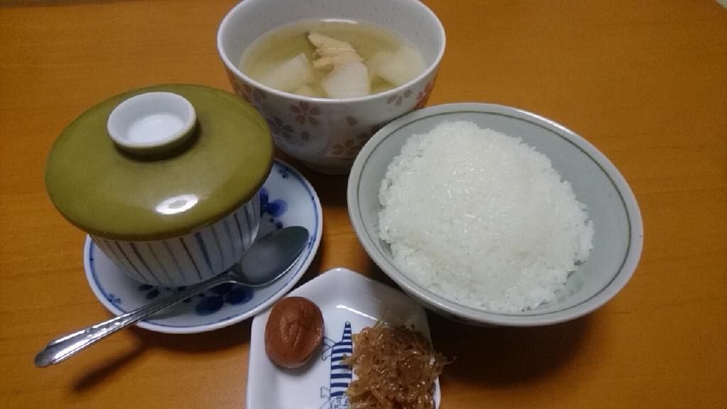 石狩鍋と茶碗蒸し_b0106766_16540996.jpg