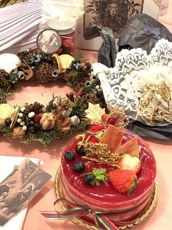 クリスマスで極上のおもてなしを ~hidamari式 アンティークなクリスマス~_e0237680_16423518.jpg