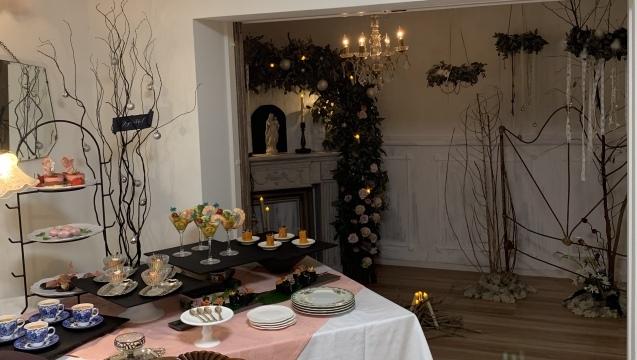 クリスマスで極上のおもてなしを ~hidamari式 アンティークなクリスマス~_e0237680_16494338.jpg