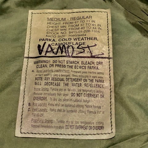 "2001 "" U.S ARMY \"" ECWCS - WOODLAND CAMO - GORE-TEX PARKA 2nd MODEL - mint condition - ._d0172088_22122255.jpg"