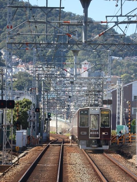 神戸線と宝塚線の阪急電車をご紹介、そしてお洒落なラッピングは春日野道での写真。スーパーはくと貨物列車の写真は東海道本線神戸から_d0181492_23520862.jpg