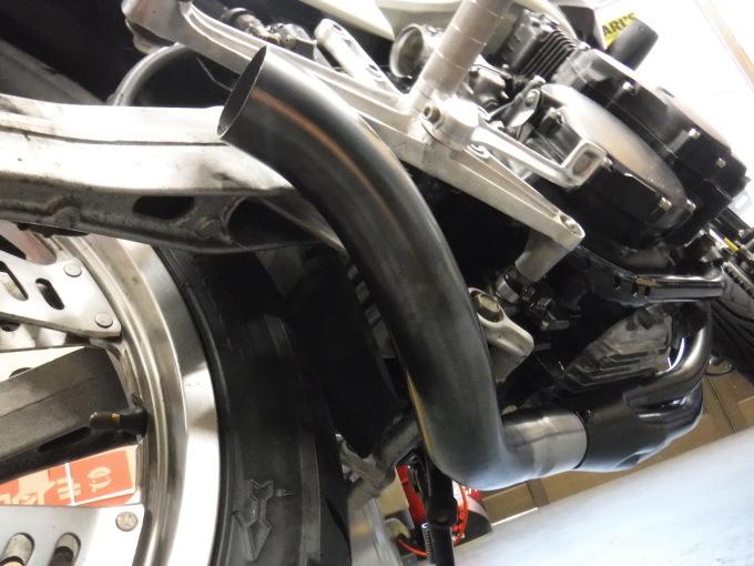 CBX400Fのマフラー製作とキャブ修理・・・その3_a0163159_22294521.jpg