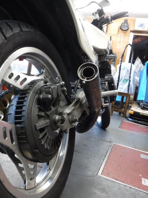 CBX400Fのマフラー製作とキャブ修理・・・その4_a0163159_22324807.jpg