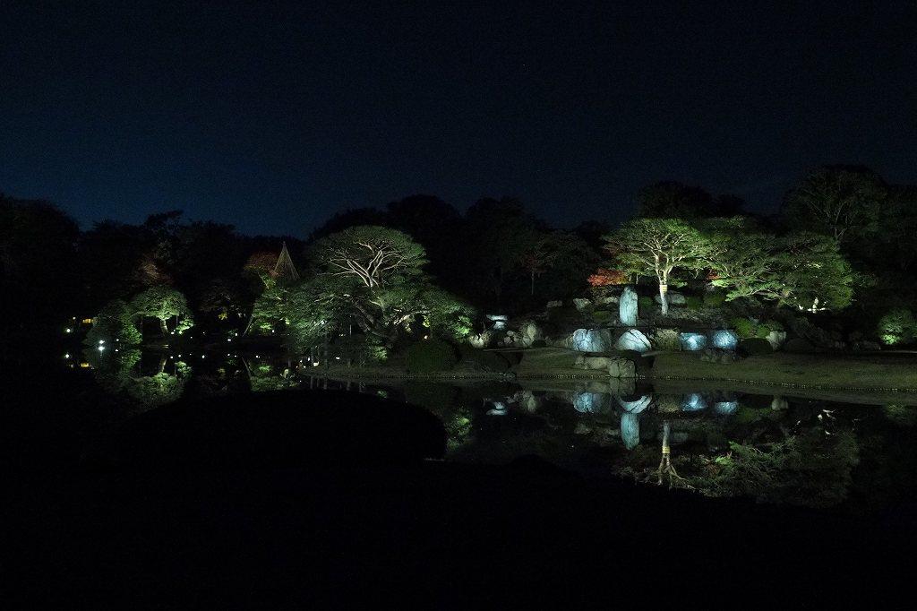 六義園へ夜の紅葉狩りに行ってきました。_e0348392_20221407.jpg