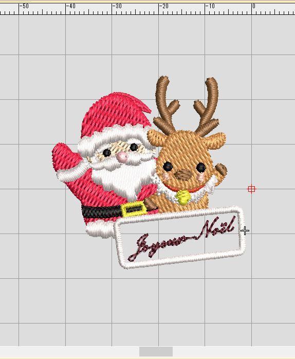 サンタさん刺繍♡_a0370893_23584024.jpg