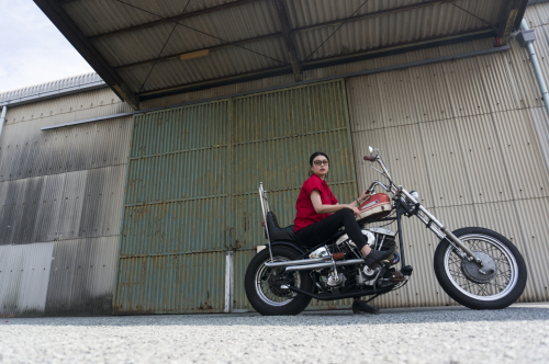 折戸 沙紀子 & Harley-Davidson FX1200(2019.08.25/MATSUZAKA)_f0203027_16492501.jpg