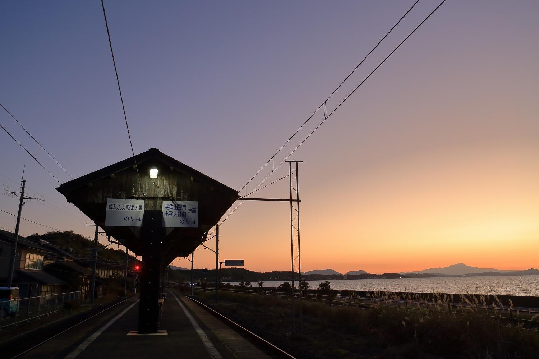 秋鹿町駅と大山_a0294534_19431012.jpg