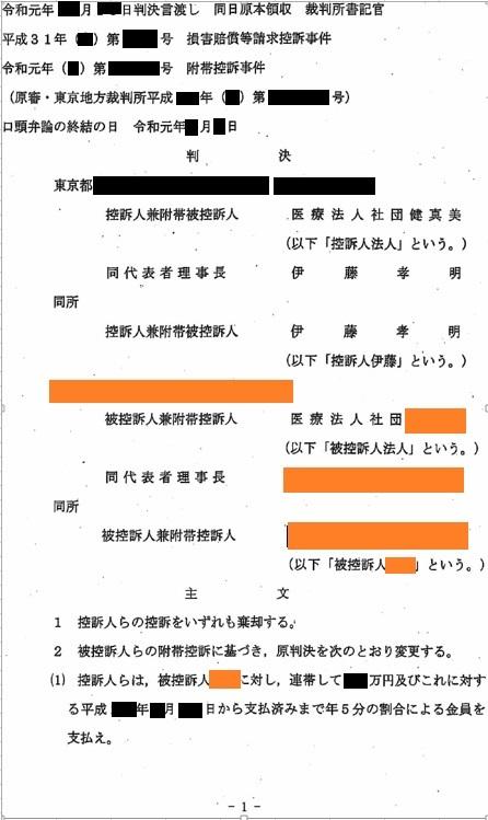 B医師裁判 東京高等裁判所判決_d0092965_03215418.jpg